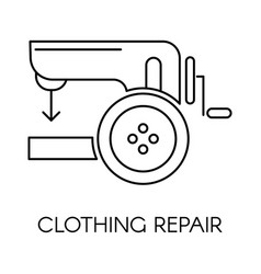 clothing repair service icon sewing machine vector image