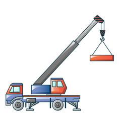 crane truck icon cartoon style vector image