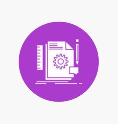 creative design develop feedback support white vector image