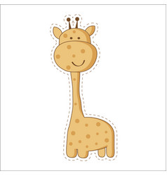 cute cartoon trendy design little giraffe with vector image