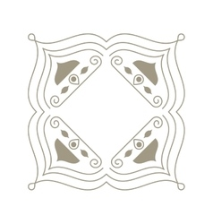 decorative vintage frame icon vector image