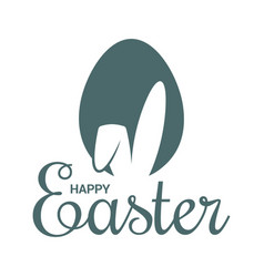 easter egg with rabbit easter bunny ears on white vector image