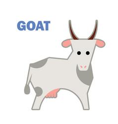 Farm animal goat isolated vector