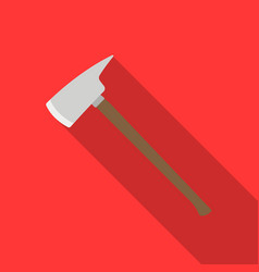 fire axe icon flat single silhouette fire vector image
