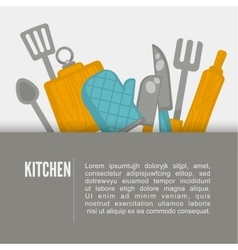 Flat design kitchen Kitchen vector image