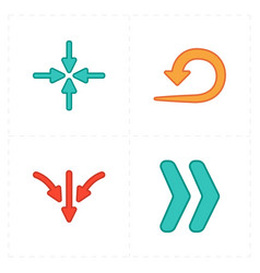 Four new simple arrows vector
