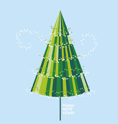 geometric minimal abstract isolated christmas tree vector image