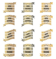 Gold Silver Bronze Ribbons vector image