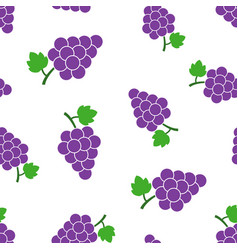 Grape fruit with leaf seamless pattern background vector