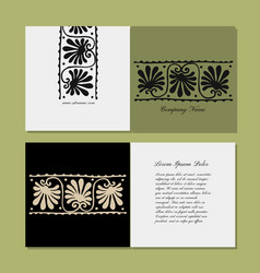 greeting card design ethnic floral ornament vector image