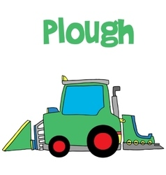 Hand draw of plough vector