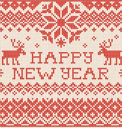 Happy New Year Scandinavian or russian style vector image