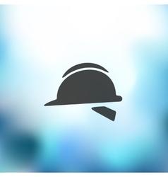 Helmet icon on blurred background vector