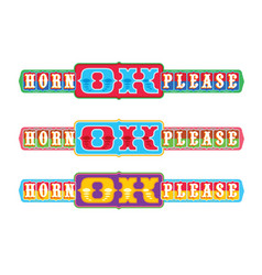 Horn ok please vector