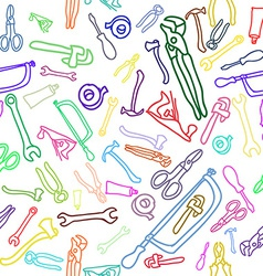 Household Hand tools Seamless pattern vector
