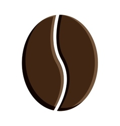 Icon of coffee brown bean vector image