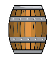 isolated wood barrel design vector image