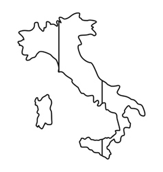 Italy map icon outline style vector