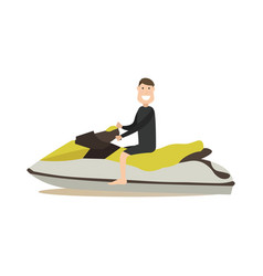 jet ski in flat style vector image