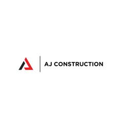 Letter aj initials logo design is suitable vector