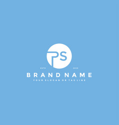 Letter ps logo design vector