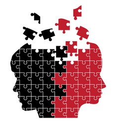 Man and woman puzzle vector