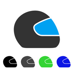 Motorcycle helmet flat icon vector