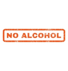 No Alcohol Rubber Stamp vector
