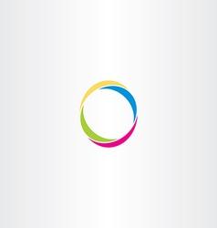o letter logo logotype o colorful symbol vector image