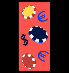 Online big slots casino marketing banner tap to vector