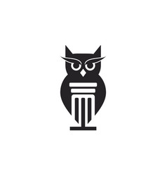 owl attorney law firm logo vector image