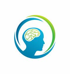 People mind logo design template vector