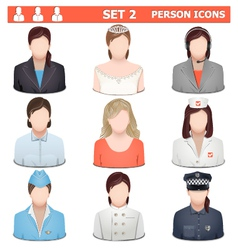 Person Icons Set 2 vector image