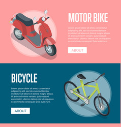personal transport isometric horizontal flyers vector image