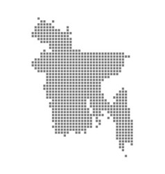 pixel map of bangladesh dotted map of bangladesh vector image