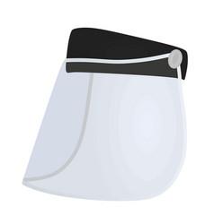 Plastic visor protection vector