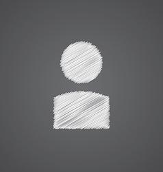 Profile sketch logo doodle icon vector