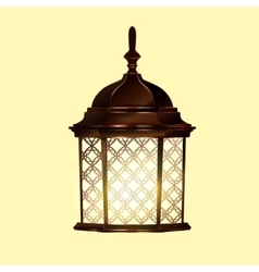 Retro vintage lamp vector image
