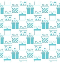 Seamless background of presents boxes vector