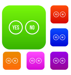 Selection buttons yes and no set collection vector