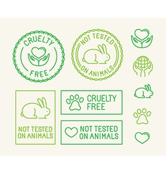 Set ecology badges and stamps for packaging vector