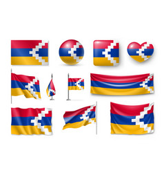 set nagorno-karabakh flags banners banners vector image