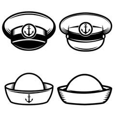 set sailors hat design elements for logo vector image