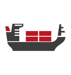 ship with baggage silhouette logo icon on vector image vector image