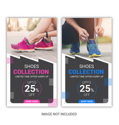 shoes instagram stories pack vector image