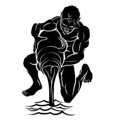 Stylised water bearer vector