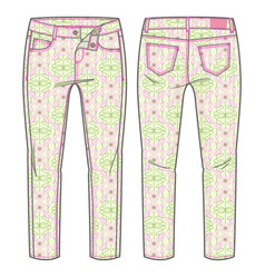 Summer pants for a girl vector