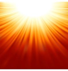 Sunburst rays of sunlight tenplate EPS 8 vector image