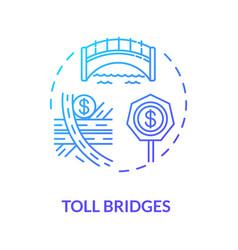 Toll bridges concept icon vector