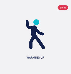 two color warming up icon from activities concept vector image